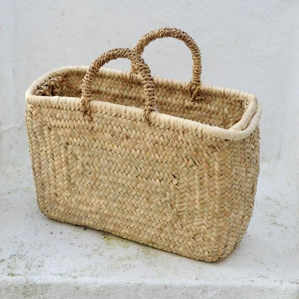 Bolso rectangular con asas cester a tradicional - Cestos de palma ...