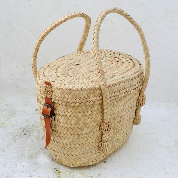 Bolso ovalado con tapa cester a tradicional - Cestos de palma ...